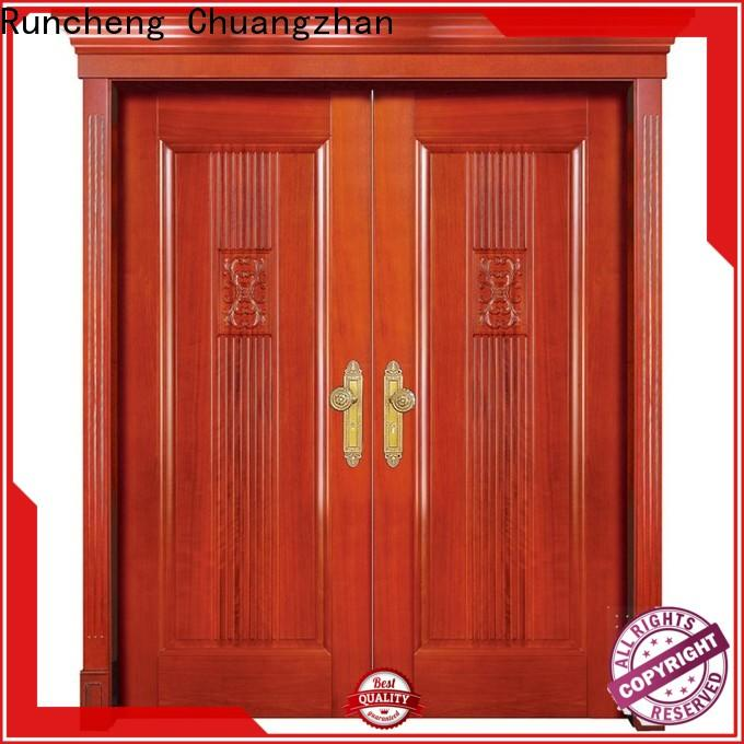 Runcheng Chuangzhan modern double front doors suppliers for offices