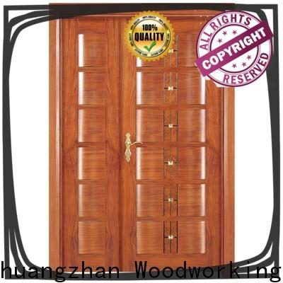New double entrance doors wooden supply for homes