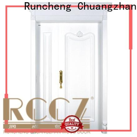Runcheng Chuangzhan veneer double wood front doors for business for homes