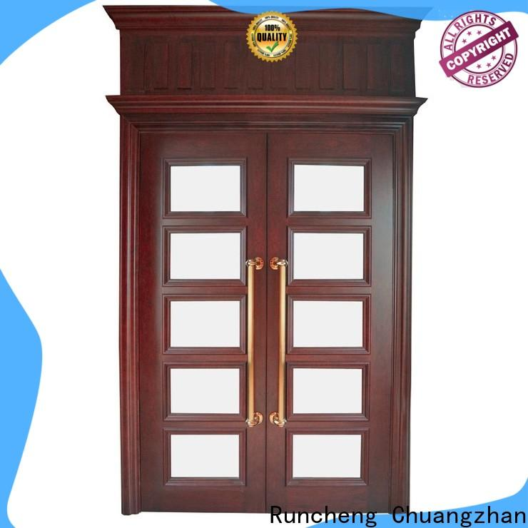 Runcheng Chuangzhan Best double door design in wood for business for indoor