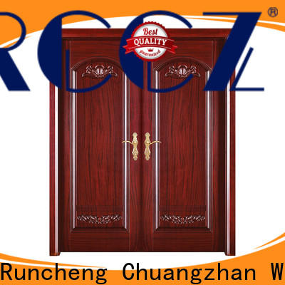Runcheng Chuangzhan solid wood front doors supply for villas