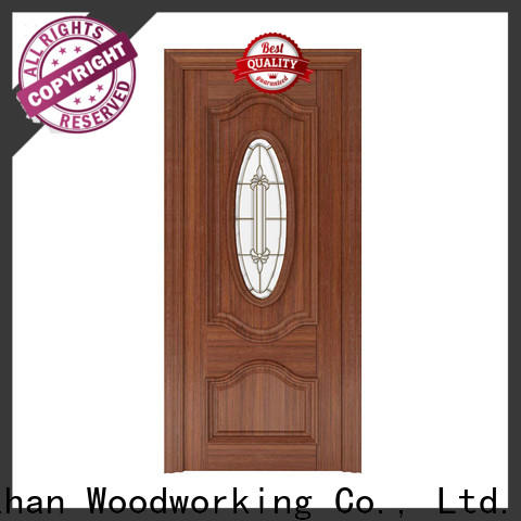 New white glass exterior door for business for indoor