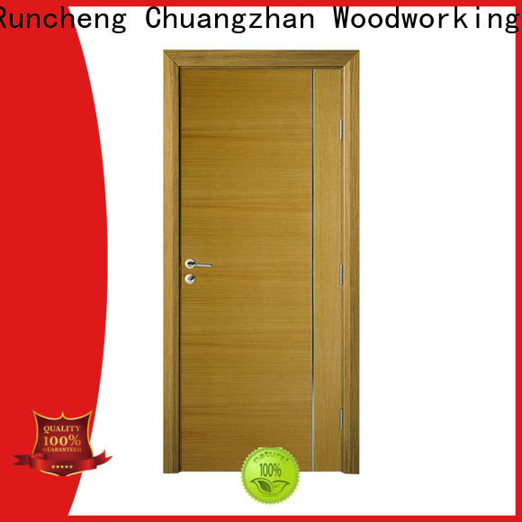 Custom wood veneer front door for business for offices