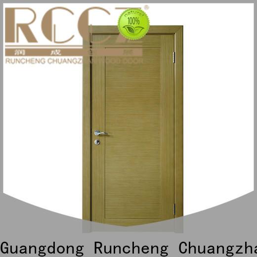 Runcheng Chuangzhan wood veneer front door supply for homes