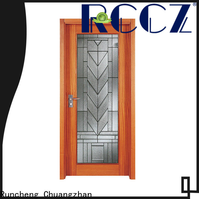 Runcheng Chuangzhan wooden glass exterior doors suppliers for offices