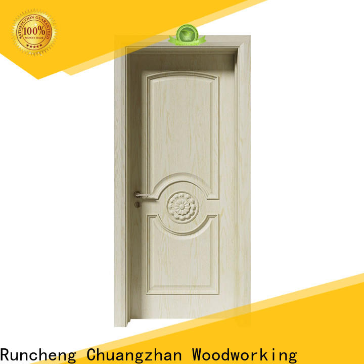 Runcheng Chuangzhan interior wood doors with glass supply for indoor