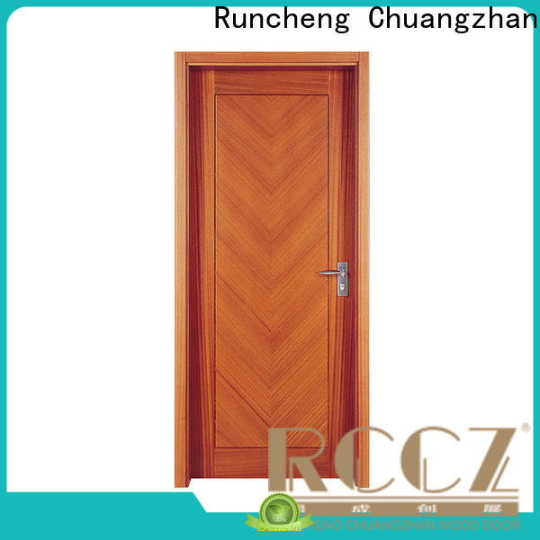 Runcheng Chuangzhan Latest interior wood doors with glass suppliers for indoor
