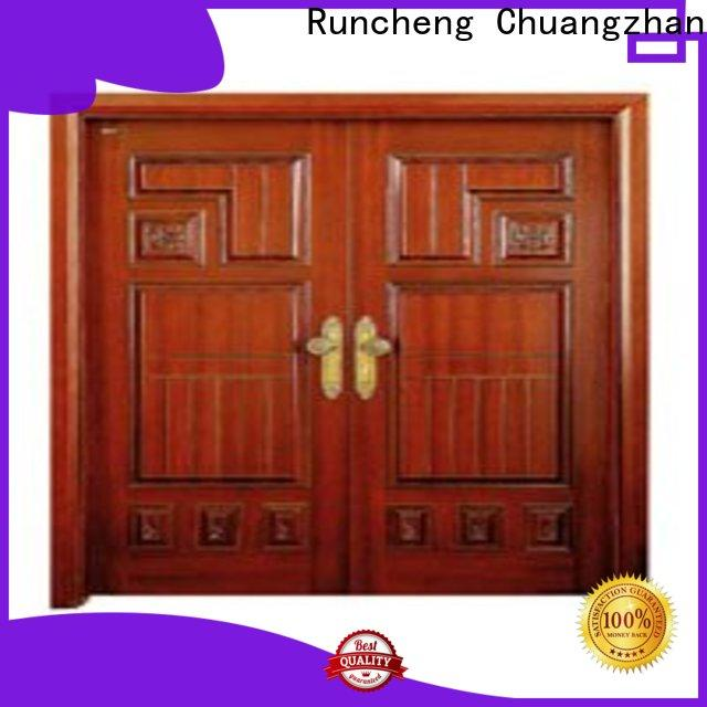 Runcheng Chuangzhan Custom double wood front doors for business for offices